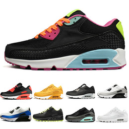 Camp Shoes For Men Australia - Hot Sale Running Shoes For Men Women Triple Black White Red 90 jogging Outdoor 90s Mens Trainers Designer Sports Sneakers Size 36-45
