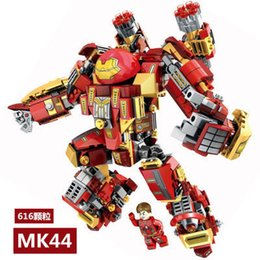 Age Blocks Australia - SY1331 1332 1333 Super Heroes Avengers 2 Age Of Ultron Big Ironman Building Blocks bricks baby toys gift Compatible with legoing