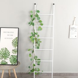 Discount flower ceiling decorations - Nordic ins ceiling winding simulation 1.7 m eucalyptus rattan interior decoration artificial flower simulation green pla
