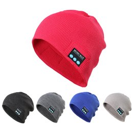 bluetooth beanies Australia - Bluetooth Wireless Warm Beanie Hat Handsfree Music Cap Headphone Headset xmas Gorro Invierno Mujer Winter Cap Dropshipping