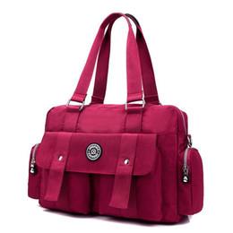 Kadınlar Vintage Seyahat Messenger Çanta Moda Bayan Su geçirmez Katı Naylon Crossbody Çanta Bolsas Femininas Kadın Omuz Bags4 indirimde