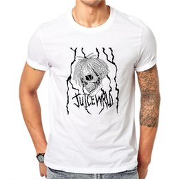 Hot Design Tees Australia - Lil Peep Mens White Skull Tees Shirt Personality Design Clothing Short Sleeve Plus Size Hot Sale New Tops 100% Cotton T-shirt