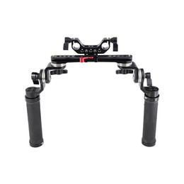 15mm rod camera Australia - CAMVATE Rubber Handheld Rig With ARRI Rosette Connection & NATO Rail & 15mm Dual Rod Adapter For Shoulder Mount Rig Item Code: C2322