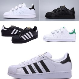 New Star Shoes Australia - 2018 New Superstars shoes Black White Gold Hologram Junior Superstars 80s Pride Sneakers Super Star kids Sport Designer shoes
