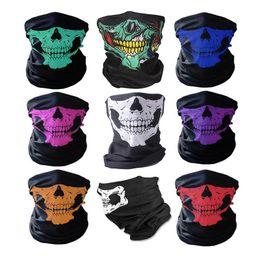$enCountryForm.capitalKeyWord Australia - 5 PCS Bicycle Ski Skull Half Face Mask 8 Colors Multipurpose Neck Warmer Ghost Pattern Scarf COD Halloween Gift Cycling Outdoor Cosplay Mask