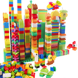 $enCountryForm.capitalKeyWord NZ - 72-260pcs Big Building Blocks Gift Instruction Sticker Colorful Bulk Bricks With Figure Accessories Compatible Duploed Toy Y190606