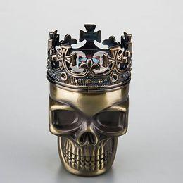 $enCountryForm.capitalKeyWord Australia - Skull herb grinder with crown, red bronze & yellow brass mix, sharp teeth, also whole full series smoking accessories