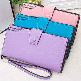 $enCountryForm.capitalKeyWord Canada - Lady Candy Colors Leather Long Wallet Lady Handle Case Card Purse Zipper Buckle Packet good quality Women Bag