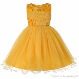 Sheer Flower Dress UK - New Shinning Girls Pageant Dresses Sheer Neck Beaded Crystal Satin 6Color Flower Girl Gowns Formal Party Dress For Teens Kids lw72 4-18