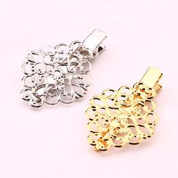 hair guns 2019 - 40PCS Wholesale Vintage Flowers Hair Jewelry Charm Gold Silver Gun Barrettes Hairclip Retro Headwear For Women cheap hai