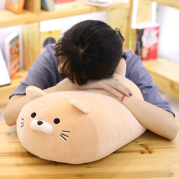 "Girlfriends Gift Cat Australia - 20"" Fat Lazy Cat Plush Toy Round Soft Stuffed Cat Pillow Sofa Decor Cushion Office Nap Time Sleeping Pillow Gift for Girlfriend"
