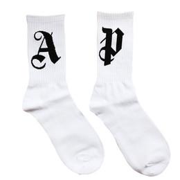 $enCountryForm.capitalKeyWord Australia - 3 pairs lot 19SS Palm Angel SOCK PA High Street Fashion Comfort Cotton Men And Women Couple White Tube Stockings Free Size Socks
