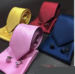 Pure Wool Suits Australia - Necktie men's business suit pocket towel pure color stripes