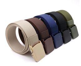 $enCountryForm.capitalKeyWord Australia - Men Female Belts Military Nylon Adjustable Belt Men Outdoor Travel Tactical Waist Belt with Plastic Buckle for Pants 130cm