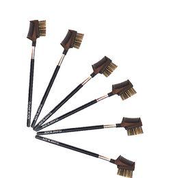 $enCountryForm.capitalKeyWord Australia - Portable Makeup Brush Black Wooden Handle Single Eyebrow Dual Eyebrow Brush Smudge Tool Eye Special Beauty Tools