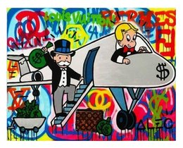 $enCountryForm.capitalKeyWord NZ - Hot 5f Airplane Alec Monopoly High Quality HD Print Abstract Oil Painting on Canvas Graffiti Wall Art Home Decor Multi Sizes Options 10