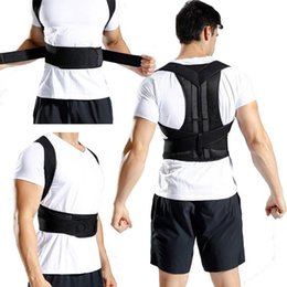 Back lumBar support Belt Brace online shopping - High Quality Back Waist Posture Corrector Adjustable Adult Correction Belt Strap Waist Trainer Shoulder Lumbar Brace Spine Support M14Y