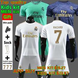 Nueva 2019  camiseta de fútbol del Real Madrid 19 20 PELIGRO JOVIC MILITAO Camiseta de fútbol MODRIC ASENSIO VINICIUS JR ISCO KROOS kit de uniforme de fútbol para niños