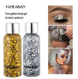 $enCountryForm.capitalKeyWord Australia - Handaiyan Glitter Body gel Glitter Gel Face Hair Nail Eye glow for Art Flash Loose Sequins Cream Party Makeup Festival Eye Shadow