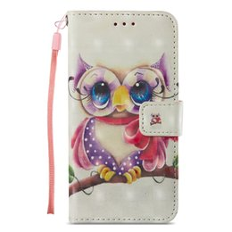 $enCountryForm.capitalKeyWord UK - Painted Owl leather flip case for iphone 6 6s 7 8 plus x xr xs max with Credit card slot wallet shockproof case