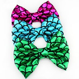 """Chinese  Chic Kids Girl 5"""" Printed Hair Bows Mermaid Barrette DIY Hair Accessories For Kids Hair clip Headwear Women Headbands with Clips manufacturers"""