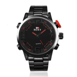 wristwatch sales NZ - New SOXY men's steel band business men's watch alloy quartz wristwatch quick sale popular