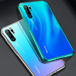 Metal Lighting Fittings Australia - Luxury mirror metal frame mobile phone case For Huawei P30  P30Pro P20 P20Pro original machine feel tempered glass back cover