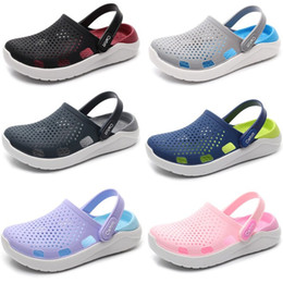 big girl size sandals 2019 - Women Mules & Clogs 2019 Summer PVC Girl Flat with Sandals Brethable Wearable Beach Casual Slippers Shoes Big Size 36-45