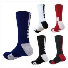 purple elite basketball socks 2019 - USA Professional Elite Basketball Socks Long Knee Athletic Sport Socks Men Fashion Compression Thermal Winter Socks whol