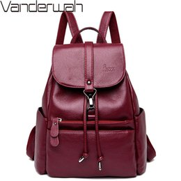 $enCountryForm.capitalKeyWord Australia - Classic String Women Backpack High Quality Youth Leather School Bags For Teenage Girls Female Bagpack Mochila Sac A Dos Femme