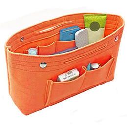 $enCountryForm.capitalKeyWord Australia - Cosmetic Bags Women Portable Felt Fabric Purse Handbag Organizer Bag Multi Pocket Insert