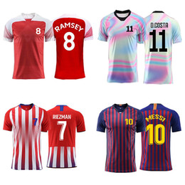 62a159ea Men adult Boys Soccer jerseys custom Print Training game Jerseys Football  Shirts Professional design Custom name number clothes