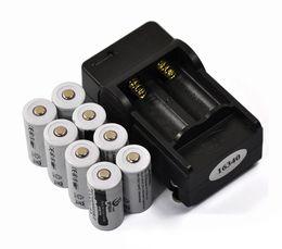Battery Slot Australia - lithium 8PCS 3.7V 2200mAh 16340 CR123A Rechargeable Li-ion + 1PCS 2-slot Travel EU Charger,Flashlight Lithium Battery
