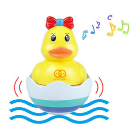 kids duck pool NZ - Baby Bathing Toy Kids Cute Amphibious Tumbler Duck Baby Bathroom Swimming Toys Shower Swimming Water Toys Kids Gift
