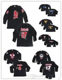 Пользовательские Jersey 5XL 6xL безумный клоун Posse Milenko Ridlebox Shangri Dope Jake Jeckel Hockey Jersey вышивка сшитая настроить любой номер A на Распродаже
