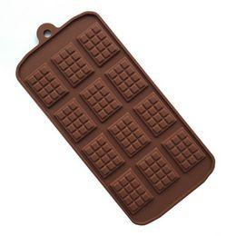 Vente en gros 12 Même Chocolat Moule Moule En Silicone Moule Fondant Moules DIY Barre De Bonbons Moule Gâteau Décoration Outils Cuisine Cuisson Accessoires