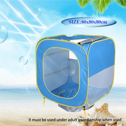 $enCountryForm.capitalKeyWord NZ - Foldable Pool Tent kids Baby Play House Indoor Outdoor UV Protection Sun Shelters For Children Camping Beach Swimming Pool Toy Tents LJJZ406