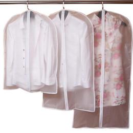 $enCountryForm.capitalKeyWord Australia - Storage Bags Hoomall Transparent Dress Clothes Coat Garment Suit Cover Case Dustproof Covers Home Zipper Protector Wardrobe Storage Bags