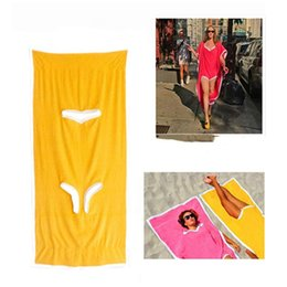 Towels baThrobes online shopping - Towelkini Beach Changing Bathrobe Bath Towel Poncho Quick Dry Outdoor Sports Adult Swimsuit Swimming Towel cm CCA11796