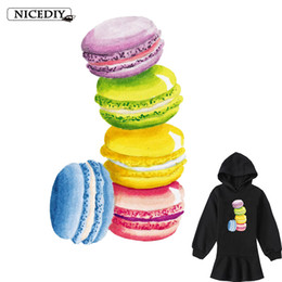 $enCountryForm.capitalKeyWord Australia - Thermal Transfers Ironable Patches Macaron Cake Transfers Cartoon PVC Vinyl Printed Appliques For Clothing Wholesale New
