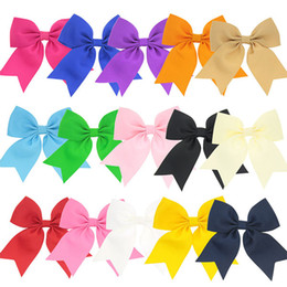 Ribbon Bowknot Bow Headband Australia - Hair Bows Clips Ribbon Bowknot Clip for Baby Girls Teens Toddlers Barrettes Solid color Pure Children Hairpins Accessories Headband