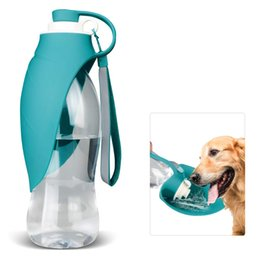 $enCountryForm.capitalKeyWord Australia - Dog Water Bottle for Walking, Pet Water Dispenser Feeder Container Portable with Drinking Cup Bowl Outdoor Hiking, Travel for Puppy, Cats,