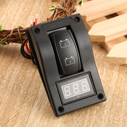 $enCountryForm.capitalKeyWord Australia - Waterproof 12-24V LED Dual Digtal Voltmeter Battery Test Panel Rocker Switch for Car Motorcycle Truck Marine Boat