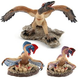 $enCountryForm.capitalKeyWord Australia - 3pcs set Lovely Oviraptor Before archaeoteryx dinosaur dragon egg Animal figures Solid Collection Children toys Gift For Kids
