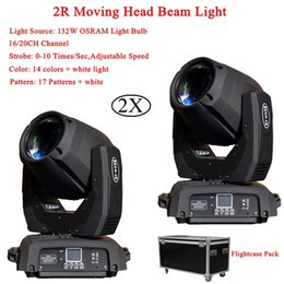 Wholesale 2Pcs Professional W LED Beam Spot Wash IN1 R Moving Head Light Plus ZOOM Features Channels DMX DJ Disco Lights