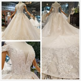 Line Princess Cathedral Bridal Wedding Dress Australia - Luxury Sequins Off-the-shoulder Wedding Dresses Lace Cathedral Lace-up Back Bridal Gowns 2019 A-Line Sweetheart Appliques Beaded Garden