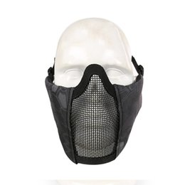 $enCountryForm.capitalKeyWord Australia - Outdoor Half Face Lower Face Protective Mask Steel Net Mesh Mask Military Adjustable Riding Hunting Tactical 12 Colors