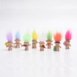Boy Toy Doll Videos Australia - The New Kawaii Colorful Hair Troll Doll Family Members Troll kindergarten Boy Girl Trolls Toy Gifts