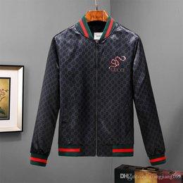 $enCountryForm.capitalKeyWord Australia - 2018 hot Autumn Luxury sanke Brand Men Jacket print jackets Sport Hip Hop Outdoor Long Sleeve jacket 3D Men's Casual Coats