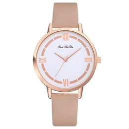 women fashionable wrist watches 2019 - GENBOLI Women Business Quartz Watches Leather Strap Simple Casual Analog Quartz Wrist-Watch Fashionable Popular Sweety G